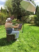 Зонт для пленэра с куполом 100 см мод. PFM-011