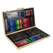 Набор для рисования в деревянном пенале (180 предметов)