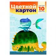Картон цветной 10 цветов Academy Style (10 листов A4)