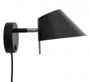 Лампа настенная Office, D18 см, черная матовая Frandsen