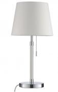 Лампа настольная Venice, белая, хром Frandsen