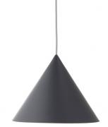 Лампа подвесная Benjamin, серая матовая, серый шнур Frandsen