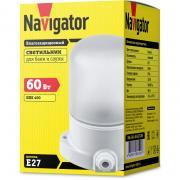 Светодиодный светильник ip54 Navigator 61 509 NBL-SA1-60-E27-WH (НПБ 400 для сауны)