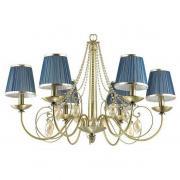 Подвесная люстра Odeon Light Niagara 3921/6 Цвет арматуры бронза Цвет плафонов синий