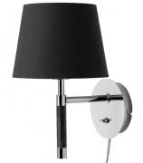 Лампа настенная Venice, черная, хром Frandsen