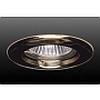 Точечный светильник неповоротный, диаметр 78 мм, высота 22 мм, диаметр монтажный: 55 мм, Тип лампы: Галогенная/LED лампа MR16, 50W, 12 В, GU5,3, золото - DN-87.0151N