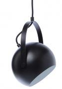 Лампа потолочная Ball с подвесом, 19 см, черная матовая Frandsen