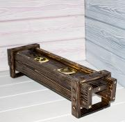 Деревянный светильник 150х150х150