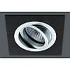 Точечный светильник алюминиевые, Размеры: 92х92 мм, высота 54 мм, диаметр монтажный: 80 мм, Тип лампы: MR16, 50W, 12 В, GU5,3, Цвет: алюминий/чёрный, черн.+алюмин. - DN-kcalB-ulA-0251AS