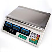 ACS-30 40 кг / 5 г Цифровые весы для вычисления цен на овощи, вилка европейского стандарта, серебристая и белая