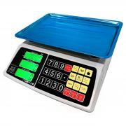 Весы сенсорные торговые (до 40 кг.) Romitech SS-40, увеличенный LCD-дисплей, сенсорные большие кнопки, платформа 30x40 см., АКБ, 2 гр.