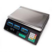 Цифровые весы, вилка европейского стандарта, цвет серебристый и черный ACS-30 40 кг / 5 г