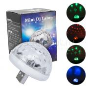 LED RGB дискошар Mini DJ USB