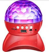 Светодиодный вращающийся диско шар Bluetooth Speaker L-740 (Красный)