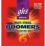 30-126 GHS Boomers 6ML-DYB Roundwound Long Scale Medium Light 6-String