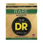 DR RARE Phosphor Bronze Acoustic 10-48 12-String cтруны для 12-струнной гитары