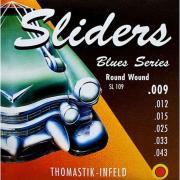 Струны для электрогитары Thomastik SL109 Blues Sliders, Light, 9-43