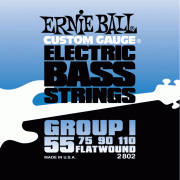 55-110 Ernie Ball 2802 Flatwound Group I