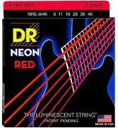 Dr Nre-9/46 - Neon Струны для электрогитар