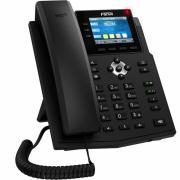 "Телефон IP X3U Телефон IP Fanvil IP телефон 6 линий, цветной экран 2.8"", HD, Opus, 10/100/1000 Мбит/с, PoE"
