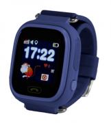 Детские часы с GPS Baby Watch Q90 (Q80 GW100 G72) цветной сенсорный экран (темно-синие)