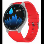 Часы GSMIN WP7 c измерением давления и пульса с красным ремешком силикон (Серебристый) GSMIN WP7