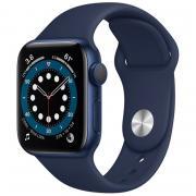 Apple Apple Watch 6, GPS, синий алюминиевый корпус, спортивный ремешок Deep Navy