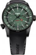 Часы Traser P68 Pathfinder GMT Green, с каучуковым ремешком, 109744