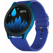 Часы GSMIN WP7 c измерением давления и пульса с синим ремешком силикон (Синий) GSMIN WP7