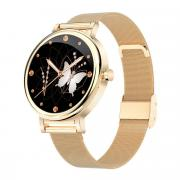 Смарт часы женские KingWear LW06 золотистые