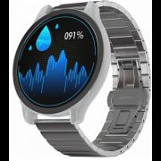 Часы GSMIN WP7 c измерением давления и пульса с серым ремешком сталь (Серебристый) GSMIN WP7