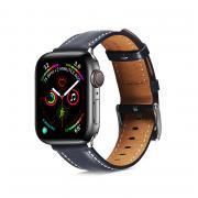 Apple Watch Hamate совместимы с прошитым кожаным ремешком Gen 1/2/3/4/5/6 38/40 мм, темно-синий, 1 шт.