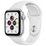 Apple Apple Watch SE, GPS, серебристый алюминиевый корпус, белый спортивный ремешок