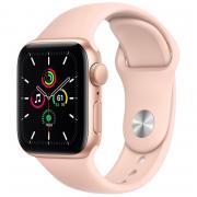Apple Apple Watch SE, GPS, золотой алюминиевый корпус, спортивный ремешок с розовым песком