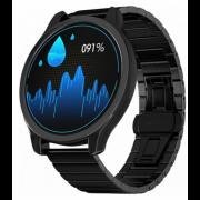 Часы GSMIN WP7 c измерением давления и пульса с черным ремешком сталь (Черный) GSMIN WP7
