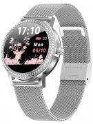 Смарт часы женские KingWear LW20 серебристые