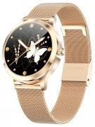 Смарт часы женские KingWear LW07 золотистые