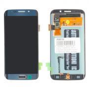 Дисплей в сборе с тачскрином и кнопкой Home (модуль) для Samsung Galaxy S6 Edge (SM-G925F) синий AMOLED