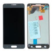 Дисплей в сборе с тачскрином (модуль) для Samsung Galaxy Alpha (SM-G850F) черный AAA