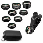 Универсальный набор объективов для камер смартфонов и планшетов 10 в 1 (Черный)