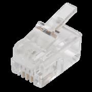 Коннектор телефонный 4p4c <> RJ11