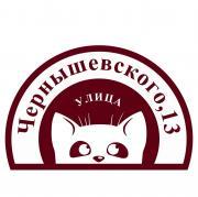 Табличка на дом адресная Кот, размер: 57x47 см.