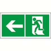 Распродажа Знак безопасности BL-2010B.E32 Напр. к эвакуационному выходу налево Белый свет