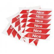 Наклейки светоотражающиеся самоклеющиеся NICE NK1 12шт