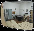 Зеркало обзорное для помещений прямоугольное 40x60 см