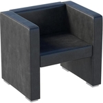 Мебелик Кресло Бриф экокожа черный