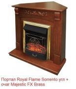 Угловой классический портал Royal flame Sorrento угл. под классический очаг (Орех)