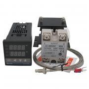 REX-C100 полный комплект (термореле, термопара, SSR-40DA, радиатор) KETOTEK