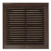 Вентиляционная решетка 150*150 с рамкой (коричневая)
