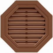 Фронтонная вентиляционная решетка коричневая